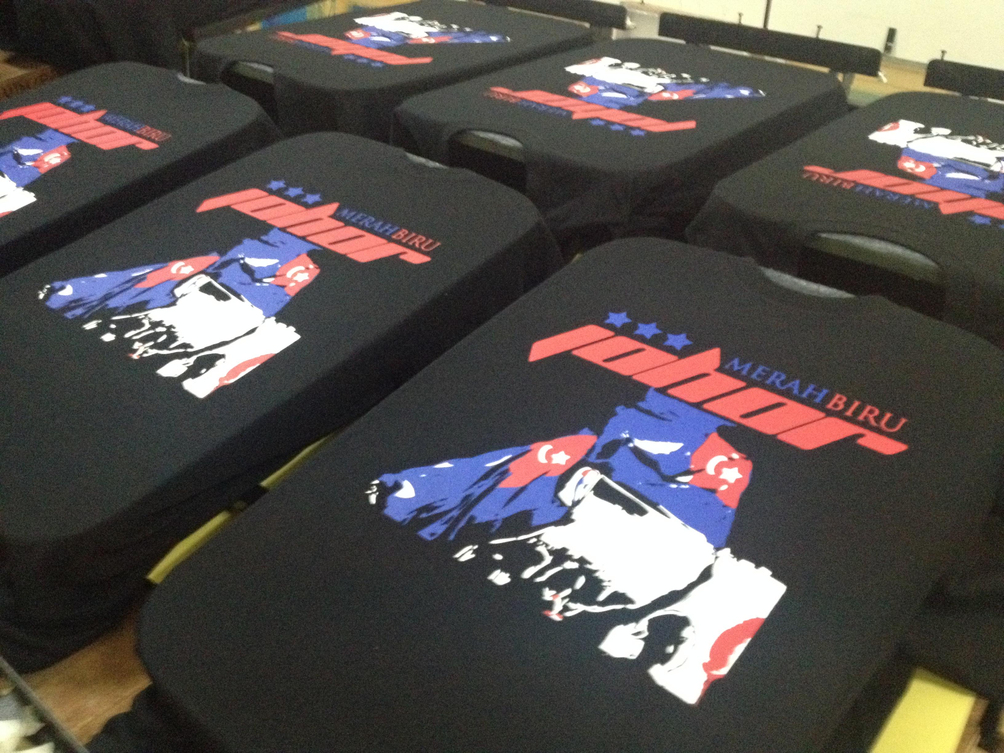Design t shirt johor - Merah Biru Johor